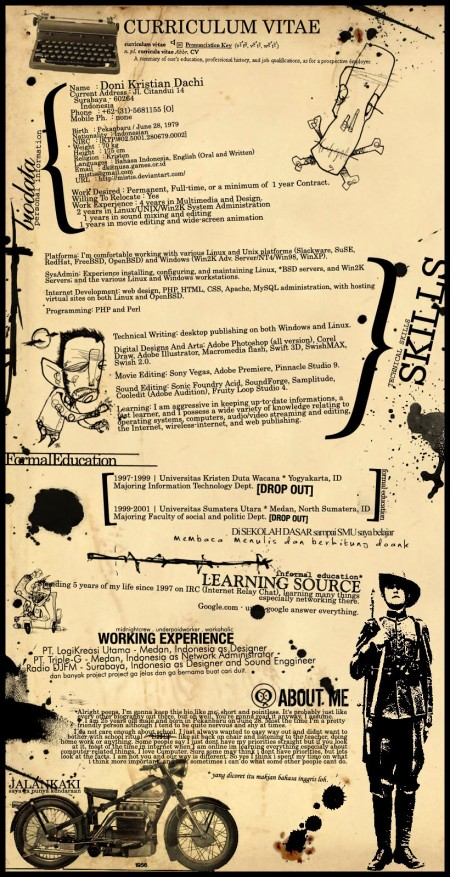 Oldschool resume | Transenter translations
