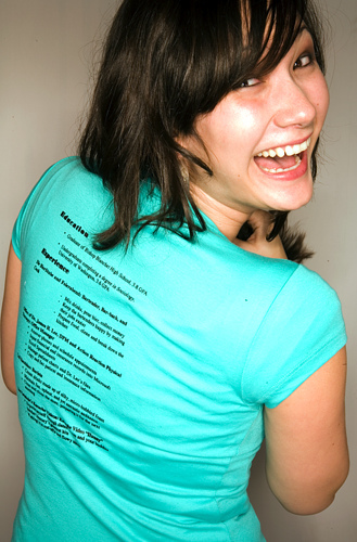 T-shirt resume   Transenter translations